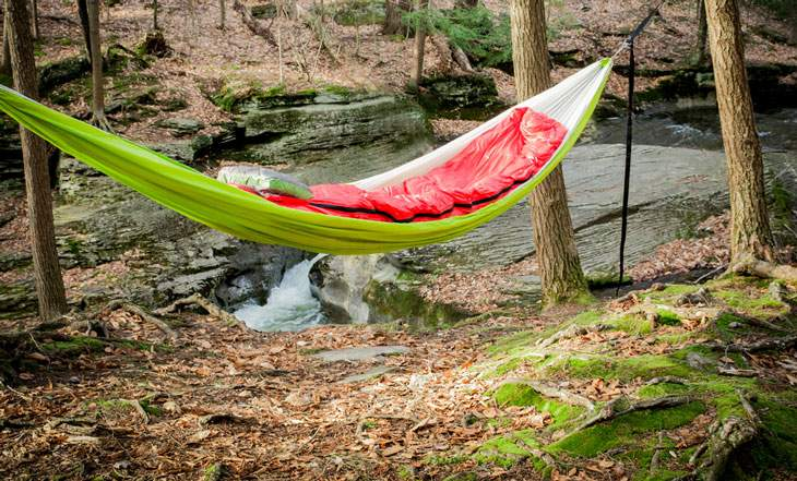 how to set up a backpacking hammock