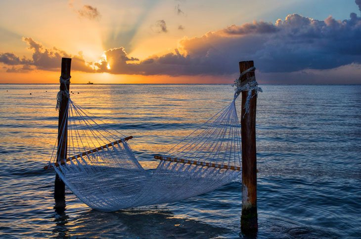 Hang a Hammock on the Beach by Porch Posts