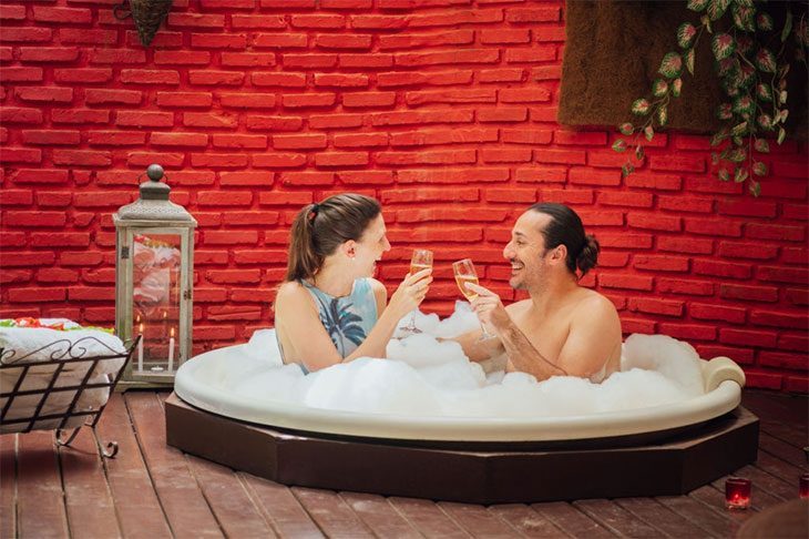 two person hot tub dimensions